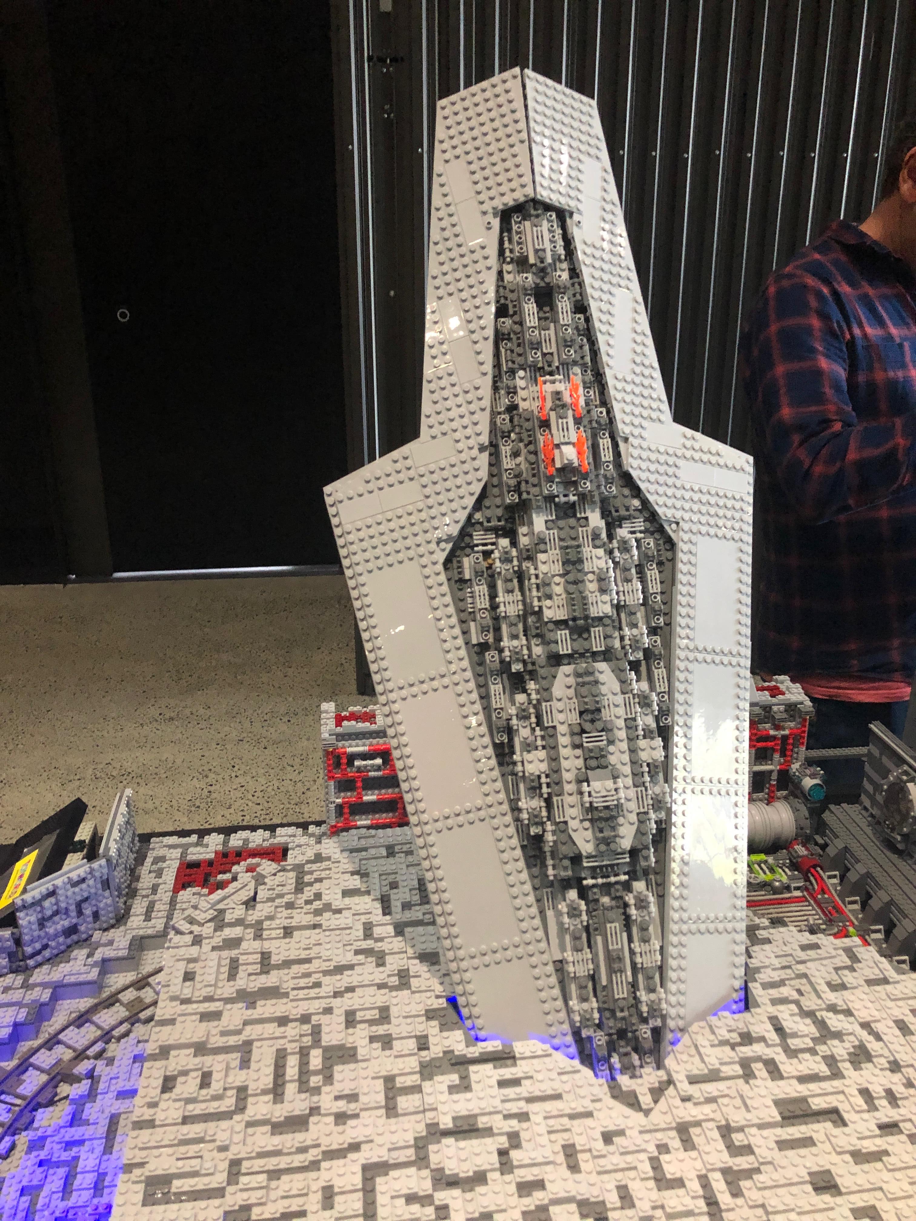 Star destroyer crashing in to the Death Star